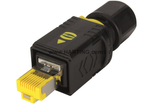 Harting PushPull V4 plug, RJ45, Cat.6A, IDC