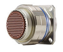 Picture of Amphenol high-speed electronic connector.