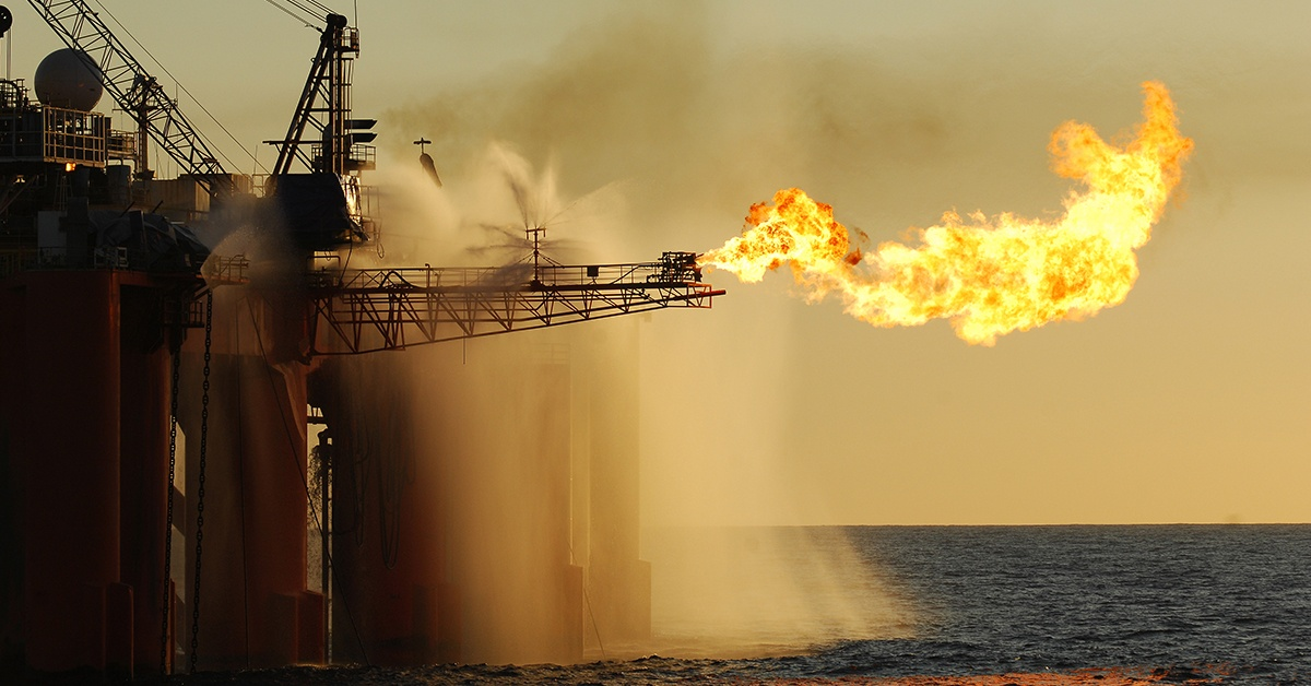 Flare on oil rig harsh environment