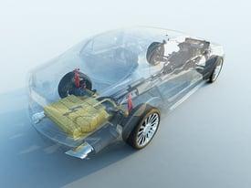 Transparent Electric Car