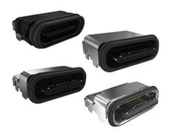 Waterproof USB Type C Connectors by Amphenol ICC